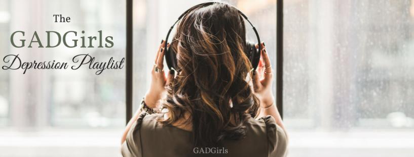 Depression Playlist Girl wearing headphones